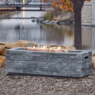 Ledgestone Concrete Propane Natural Gas Fire Pit