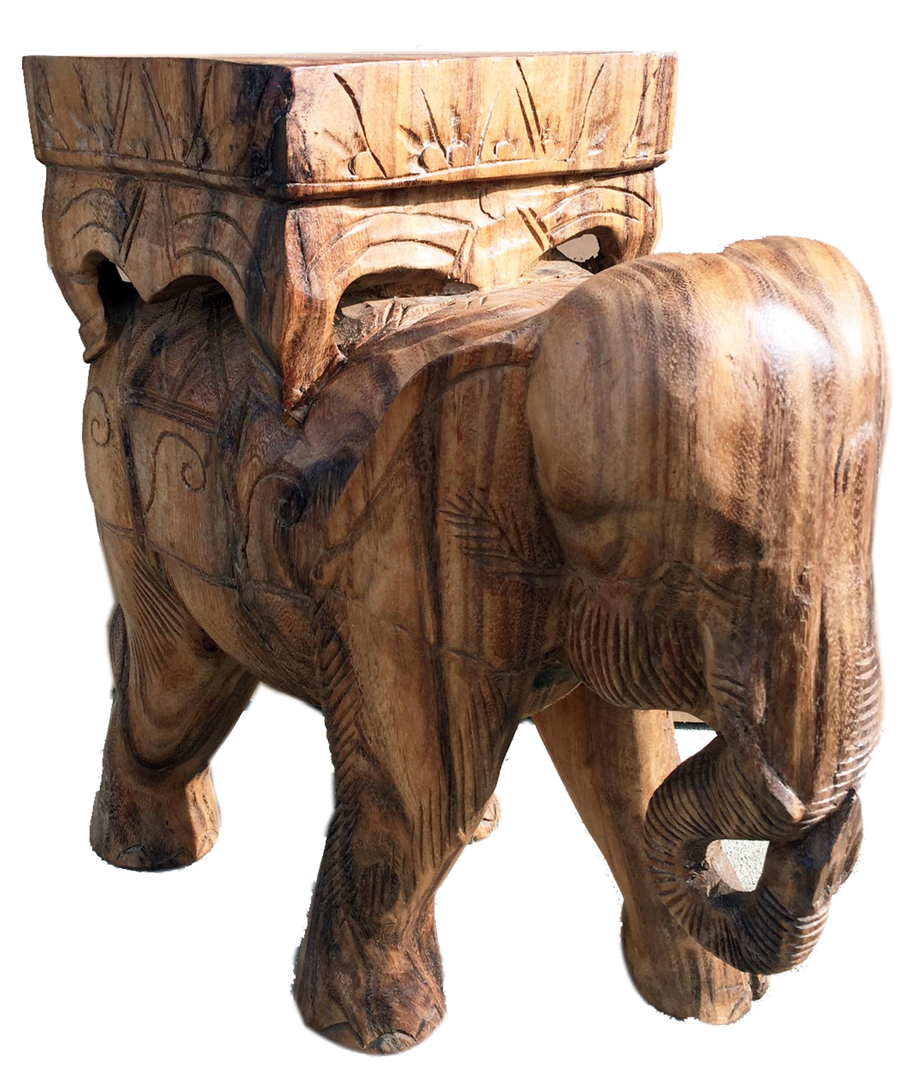 Asian Art Imports Elephant Stand Stool   Wayfair