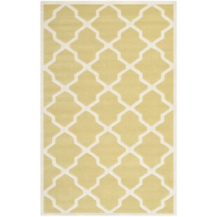 Jennings Wool Light Gold/Ivory Area Rug by Safavieh