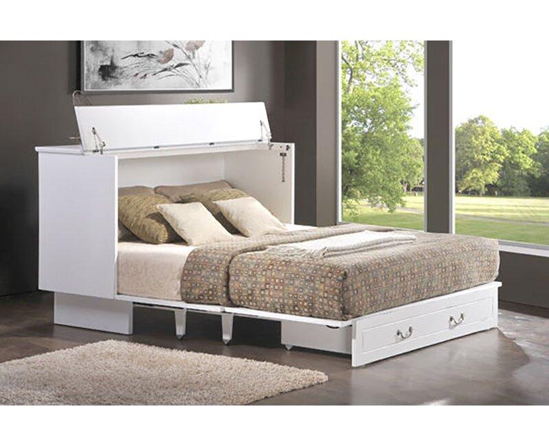 Brayden Studio Kim Queen Storage Murphy Bed With Mattress Reviews Wayfair