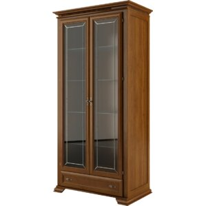 Melanson Walnut China Cabinet by Three Posts
