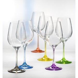 Rainbow All Purpose Wine Goblet (Set of 6)