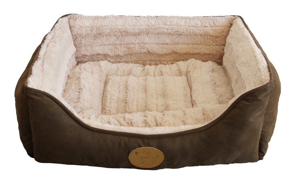 Square Bolster Dog Bed