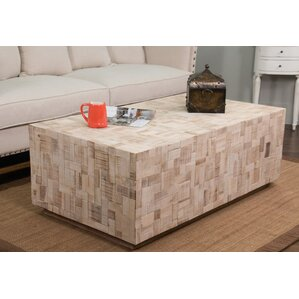 St. Lucie Wood Coffee Table by Rosecliff Heights