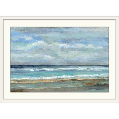 Three Posts 'Seashore' Print Format: White Frame, Size: 24 H x 32 W x 1 D