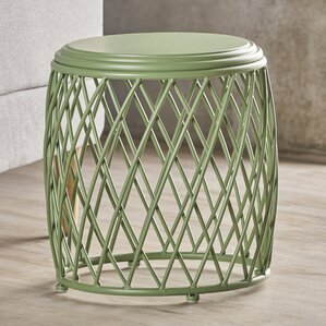 Ranallo Indoor Iron End Table by Varick Gallery