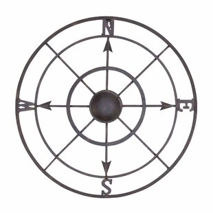 Nautical Metal Compass Rose Wall Decor