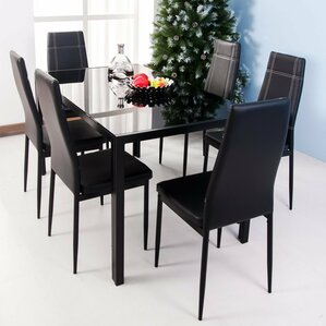 7 Piece Dining Set by Merax