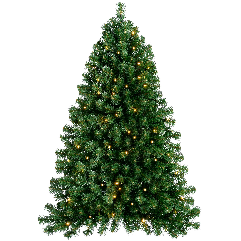 The Seasonal Aisle Pre Lit Wall Mounted 3ft Green Pine Artificial Christmas Tree With 50 Led Lights Wayfair Co Uk