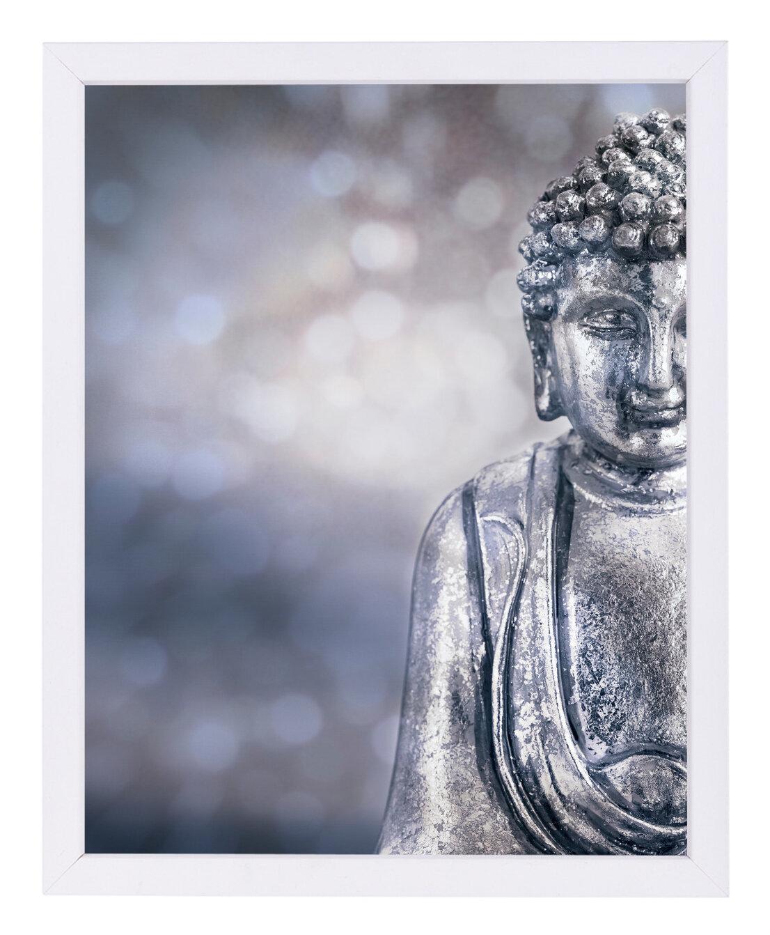 East Urban Home \'Buddha\' Framed Graphic Art Print | Wayfair