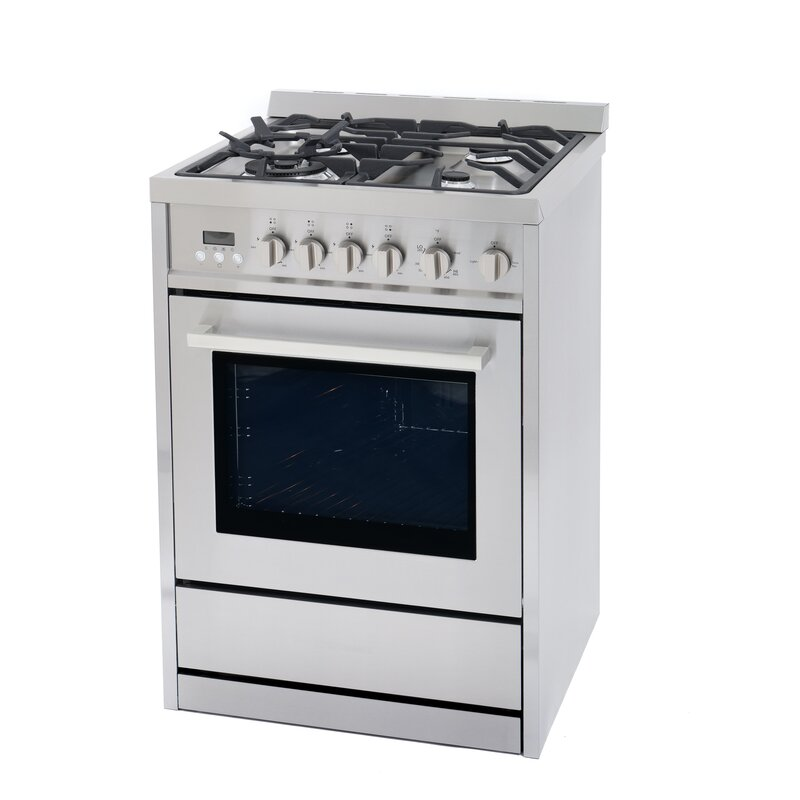 """Cosmo 24"""" 2.73 cu ft. Free-standing Gas Range"""