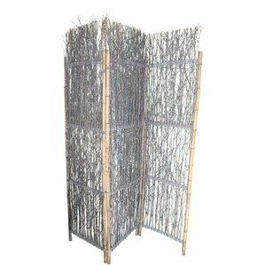 76 X 60 Rustic Willow Decoration 3 Panel Room Divider