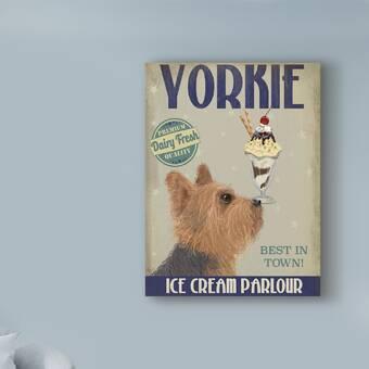 Winston Porter 'Yorkshire Terrier Ice Cream' Vintage