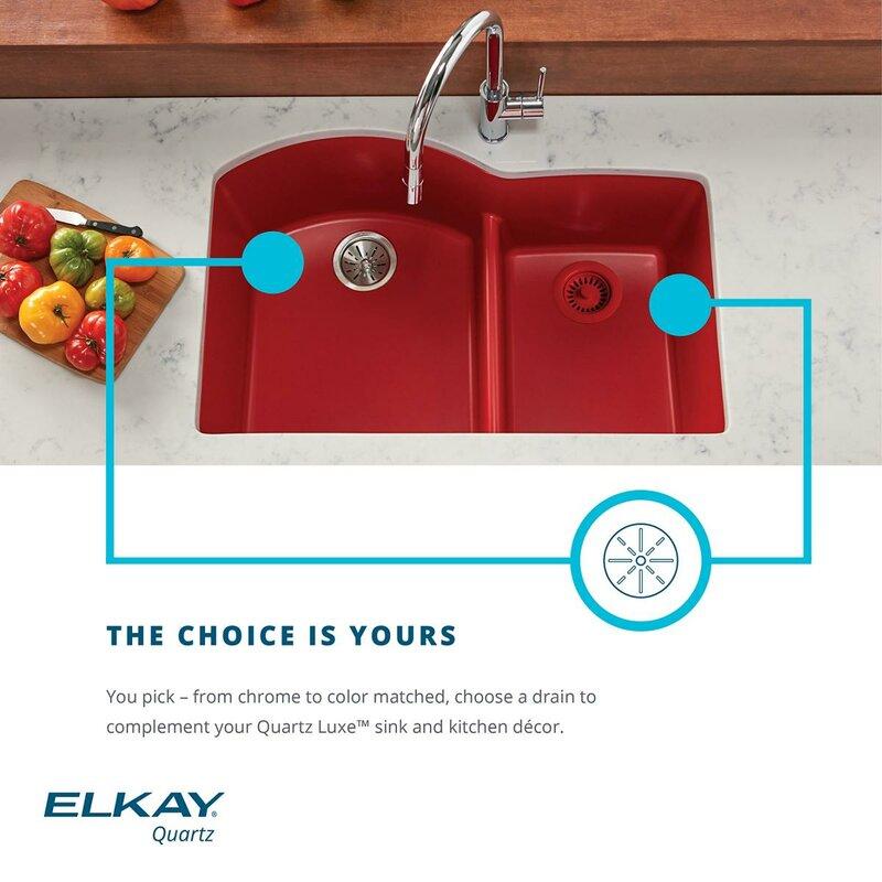 quartz luxe 33   x 20   double basin undermount kitchen sink elkay quartz luxe 33   x 20   double basin undermount kitchen sink      rh   wayfair com