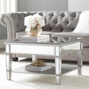 Loganne Mirrored Square Coffee Table Part 46