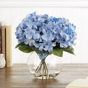 Hydrangea flower arrangements youll love wayfair faux blue hydrangea bloom mightylinksfo