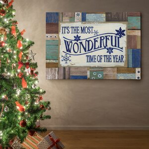 'Most Wonderful Time' Photographic Print on Wrapped Canvas