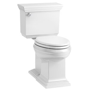 Memoirs Stately Comfort Height 2 Piece Elongated 1.28 GPF Toilet With  Aquapiston Flush Technology And