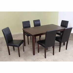 Wooden 7 Piece Dining Set by Warehouse of Tiffany