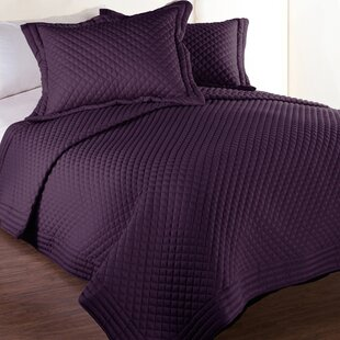 sham purple gold quilt homemartgoods products floral quilted piece bedspread