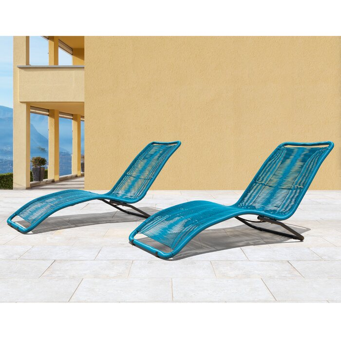 chaise lounge cosmo white outdoor modern