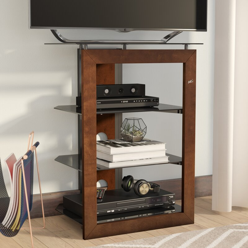 Modern Contemporary Wood Audio Rack