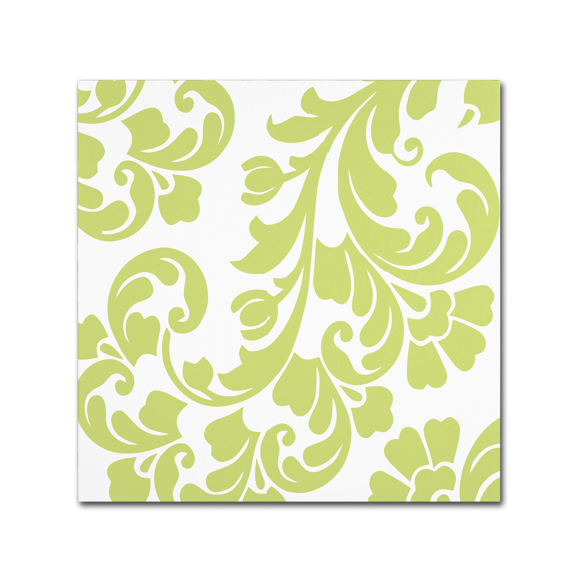 Trademark Art \'Calyx Damask\' by Color Bakery Graphic Art on Wrapped ...