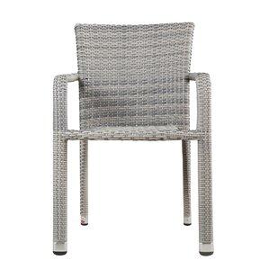 Grey Wicker Chairs grey patio dining chairs you'll love | wayfair