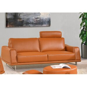 Ballou Leather Sofa by Latitude Run