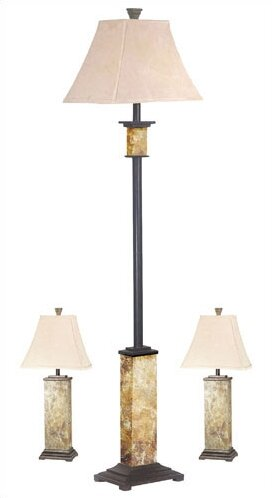 Alcott hill gallipolis 3 piece table and floor lamp set reviews gallipolis 3 piece table and floor lamp set mozeypictures Images