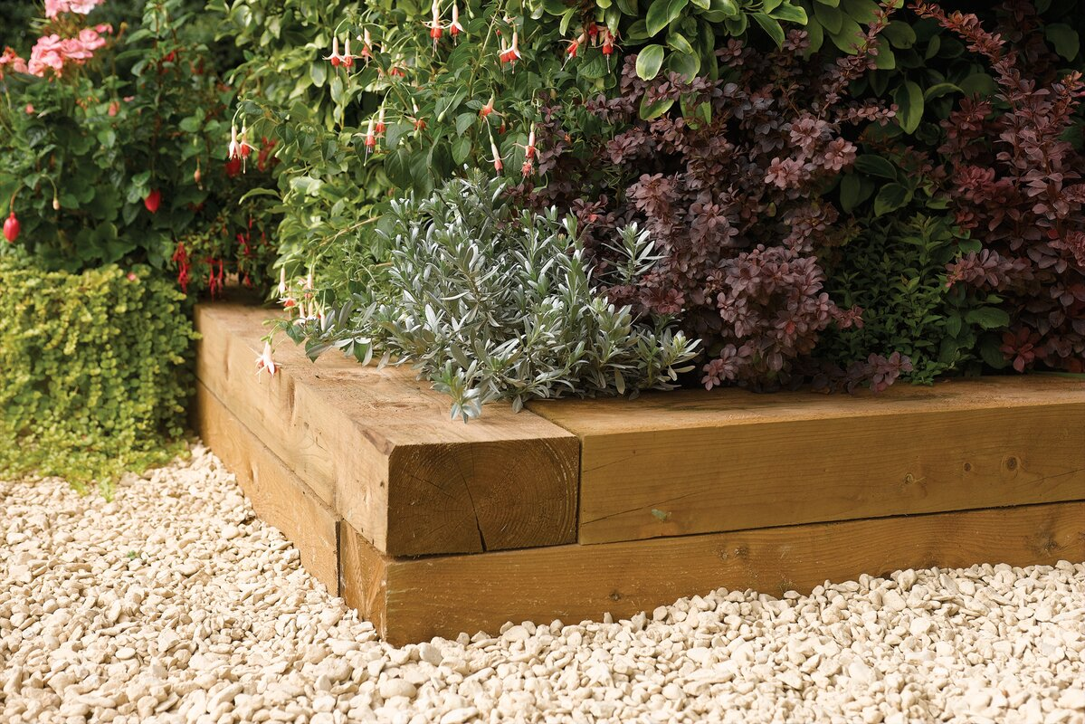 Wooden Raised Flower Bed