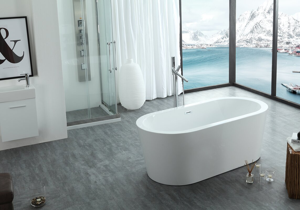 Eisen Home Dionysus Freestanding Soaking Bathtub & Reviews | Wayfair