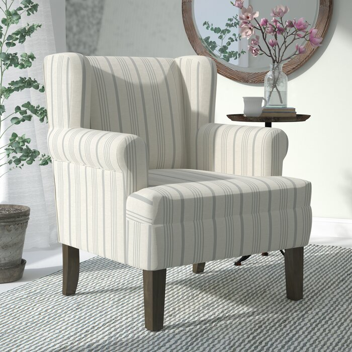 Laurel Foundry Modern Farmhouse London Rolled Wing back Chair ...