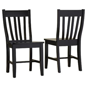 Black Wood Dining Chair black kitchen & dining chairs you'll love | wayfair