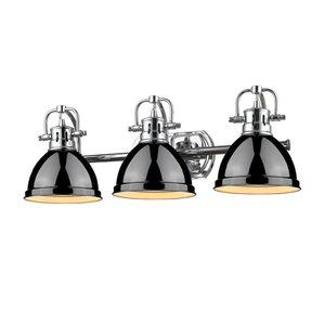 Bathroom Vanity Lights Black black shade bathroom vanity lighting you'll love | wayfair