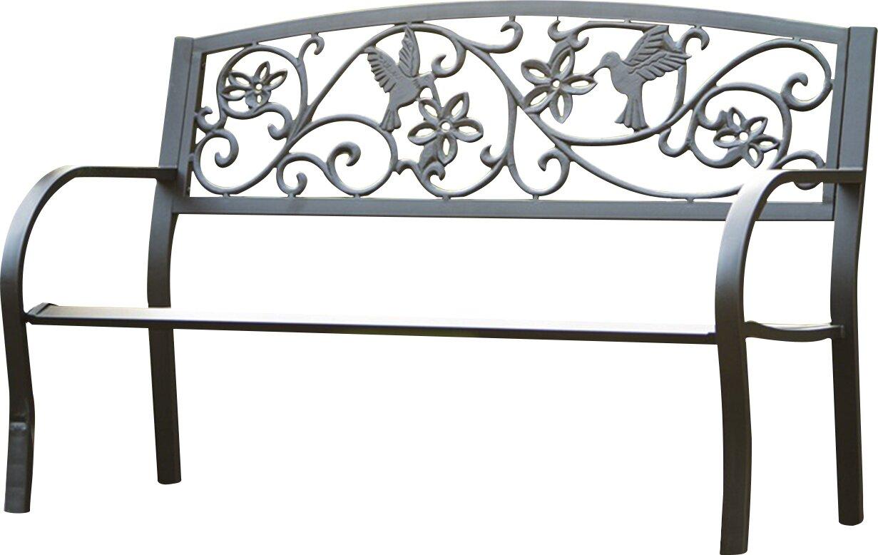 Hummingbird Metal Garden Bench