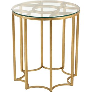 Reynaldo Round Iron/Glass End Table by Willa Arlo Interiors