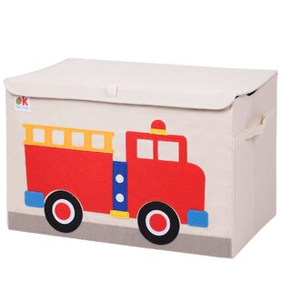 Merveilleux Olive Kids Fire Truck Toy Box