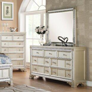Tiffany 7 Drawer Dresser With Mirror