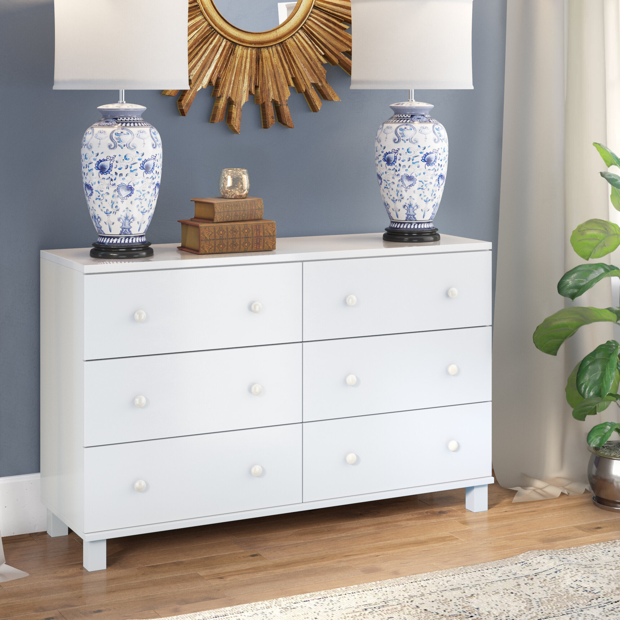 Winston Porter Cheswick Spacious 6 Drawer Double Dresser & Reviews