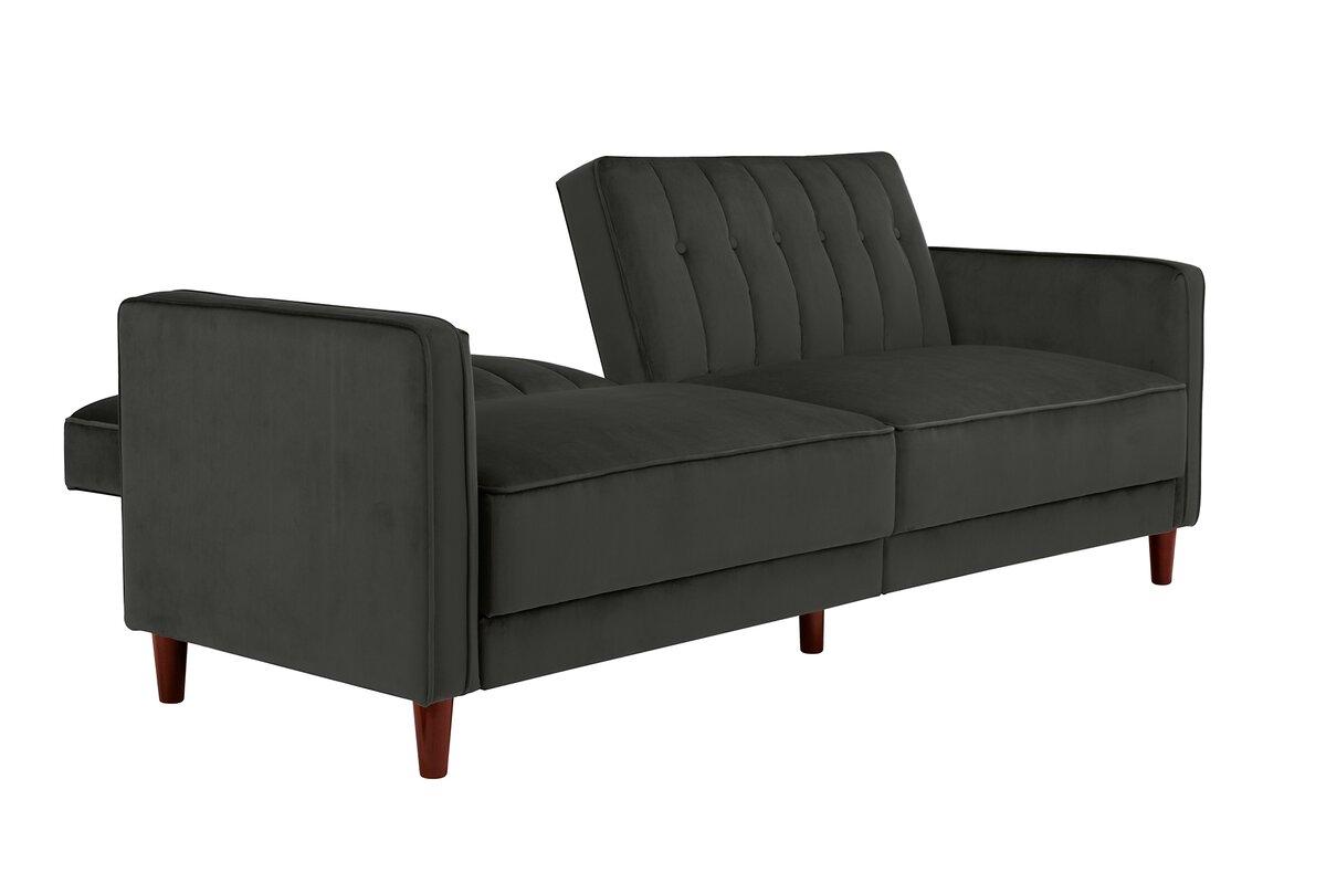 Willa Arlo Interiors Hammondale Pin Tufted Convertible Sofa ...
