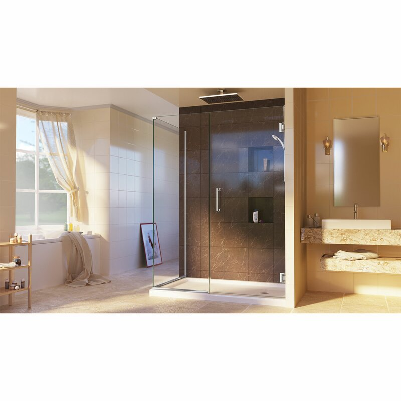 Unidoor Plus 31 5 X 34 38 72 Rectangle Hinged Shower Enclosure