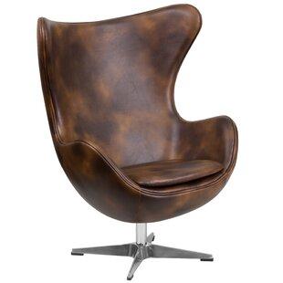 Ailbe Leather Balloon Chair