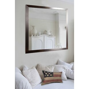 Bedroom wall mirrors wayfair large flat stainless wall mirror sisterspd
