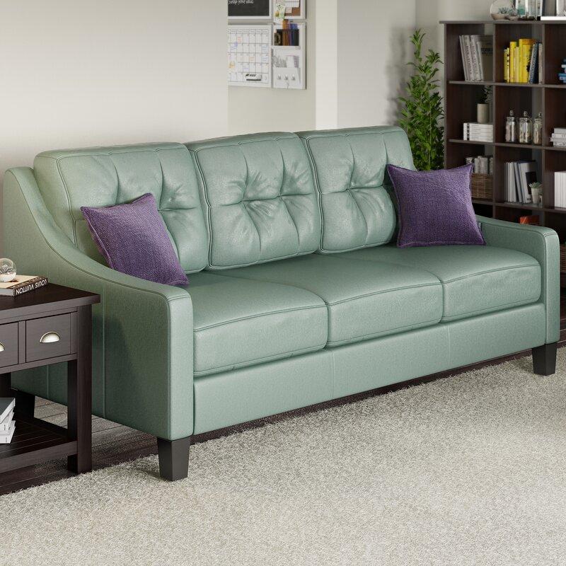 Red Barrel Studio Stouffer Leather Sofa Amp Reviews Wayfair