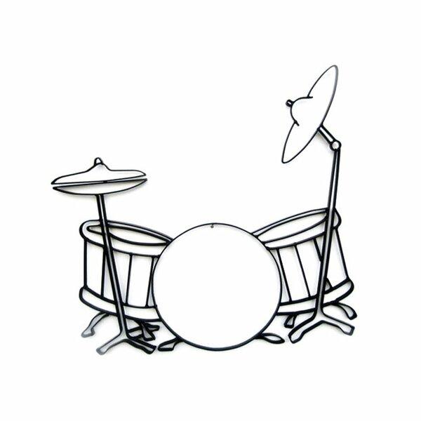 world unique imports drum set metal wall d cor reviews wayfair