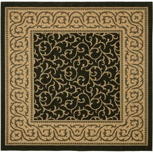 Short Black / Natural Indoor/Outdoor Rug