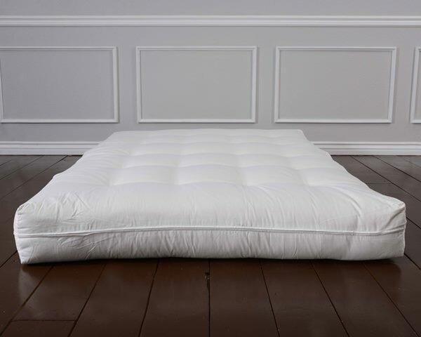 geno luxury natural wool 8   foam core futon mattress alwyn home geno luxury natural wool 8   foam core futon mattress      rh   wayfair