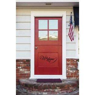 Densmore Welcome Door Wall Decal  sc 1 st  Wayfair & Welcome Wall Decal | Wayfair