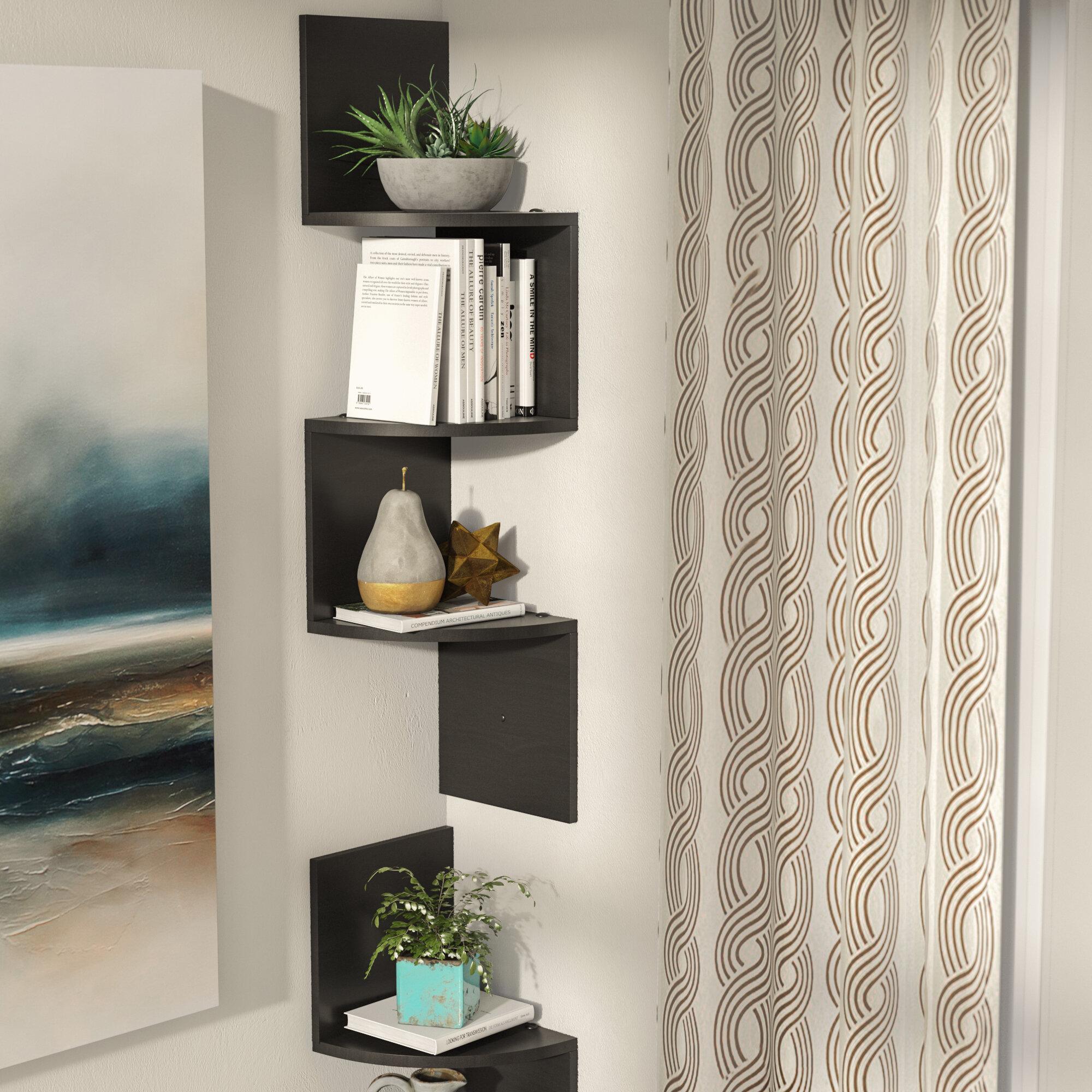Zipcode Design Luz 3 Shelf Wall Mount Corner Shelf Set Reviews